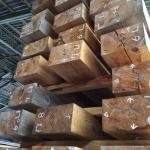 化粧面表示された材木
