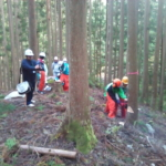 地元の中学生に林業体験をしてもらいました!