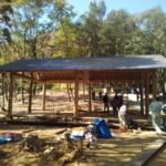 美里水源の森に「東屋」を作りました〜♪