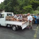 「木の駅」を開催、薪の原木を集めました!