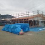 天然乾燥木材「もりずむの木」をお使いいただいたお店が、三重県玉城町で上棟になりました!