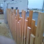 もりずむの杉板が、いなべの保育園の外塀になりました!
