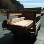 もりずむの杉板を鹿児島に発送しました。
