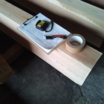 もりずむの木の構造材について「材料検査」をしていただきました。