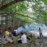 木こり体験ツアーで森を楽しんでもらいました〜♪